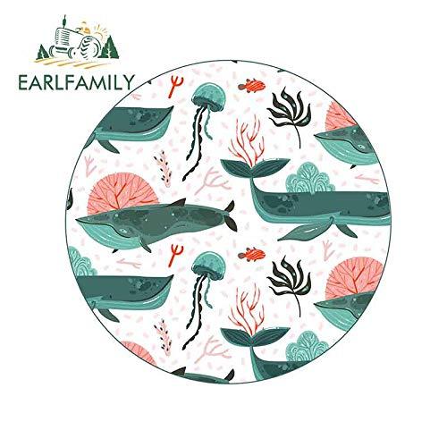 A/X 13cm x 13cm für Pretty Whale Jellyfish Sea Creatures Persönlichkeit Kreative Autoaufkleber Vinyl Aufkleber Geeignet für GTR RV