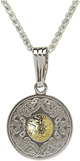 Boru Sterling Silver Warrior Pendant 18K Gold Plated Bead 18