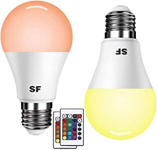 Sunlight Forest - LED Flame Effect Light Bulb - E26 E27 4 Modes with Upside Down Effect Simulated Atmosphere Lighting for Christmas Gift Lights Outdoor Indoor Party Decoration (04)
