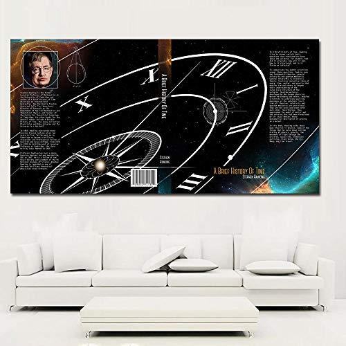 Impression HD Moderne, Une brève Histoire du Temps et peintures murales Modernes à la Page 39, estampes peintes sans Cadre sur Toile