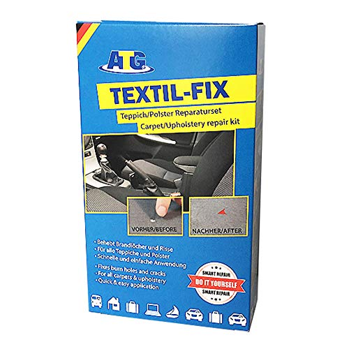 ATG - Textil-Fix - Autositz Brandloch Reparaturset - für alle Polster | Teppich Flicken | Couch Pflege | Reparaturset für den Innenraum - Flick Brandloch - 13 teilig