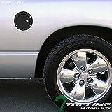 Topline Autopart Matte Black Aluminum Gas Door Cover With Lock For 02-08 Dodge Ram 1500/03-09 2500/3500