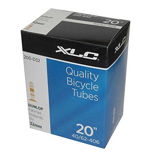 XLC Unisex– Erwachsene Fahrradschlauch 20 x1.5/2.5 40/62-406 DV 35 mm VT-D20, Schwarz, One Size