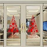 Jaysis Autocollants Stickers Noël pour Fenêtre Geant Vitre Livre Décoration De Noël Pas Cher Luminous De Maison Bonhomme Flocons De Neige Amovibles Vinyle De Décalcomanie Nouvel an Joyeux