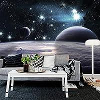 RTYUIHN 3D壁紙壁画3D星空サイエンスフィクション宇宙惑星テーマインターネットカフェインターネットカフェ子供部屋寝室リビングルームモダンウォールアートデコレーション