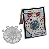 Christmas Clock Metallschneideisen Stencil Scrapbooking DIY Album Stamp Papierkarte Präge Decor...