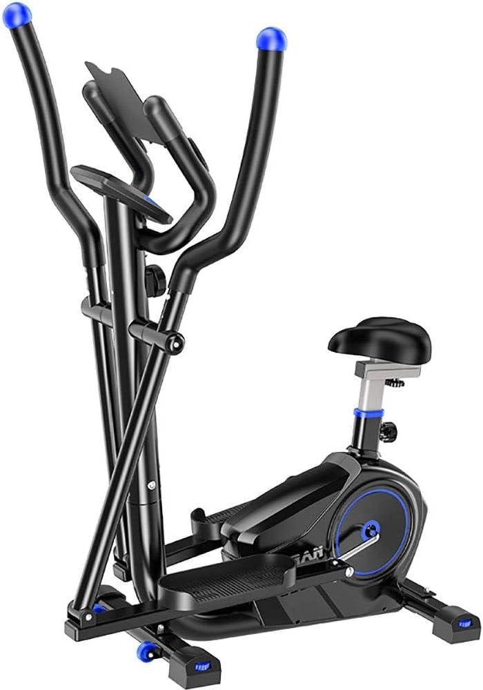 Year-end Selling gift QERNTPEY Exercise Bike Elliptical Machine Cross in 2 E 1 Trainer