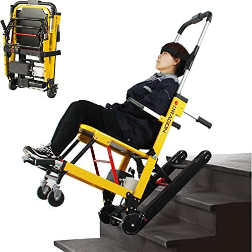 RONG HOME Carrello Leggero Sedie a rotelle ausiliarie Sedie a rotelle semoventi Sedia a rotelle elettrica compatta Pieghevole Montascale Mobile Assistenza alla Camminata Regolabile