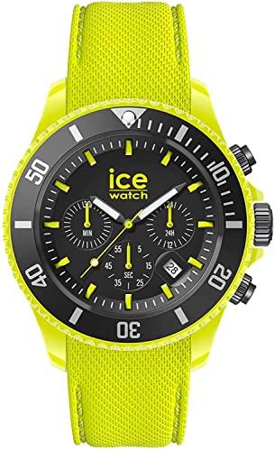 Ice-Watch - ICE chrono Neon yellow - Gelbe Herrenuhr mit Silikonarmband - Chrono - 019838 (Large)