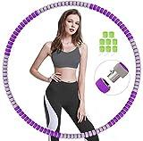 LUOWAN Hula Hoop, Professional Hula Hoop Desmontable, Material de Acero Inoxidable,Puede Perder Peso y Hacer Ejercicio, Adecuado para Fitness, Gimnasia