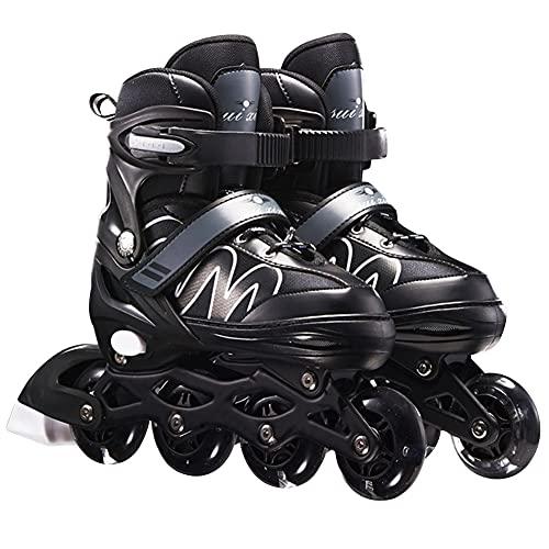 Ysimee Verstellbare Inliner Skates mit Bremsen für Kinder Anfänger, Fitness Inline Skates, Unisex