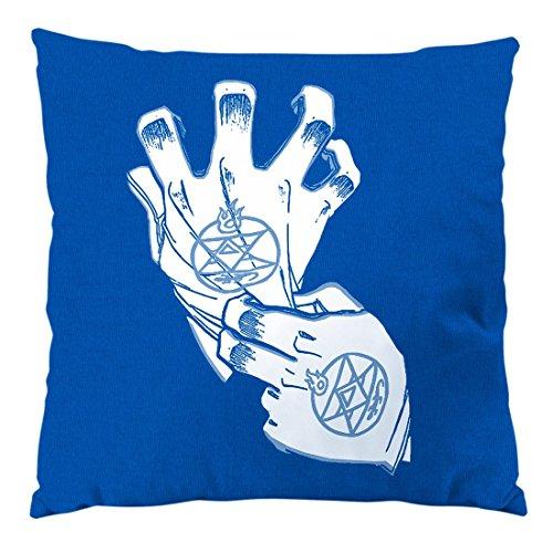 style3 Roy Mustang Alchemist Guante Cojín con Relleno 28 × 28 cm Funda de algodón Fullmetal, Color:Azul