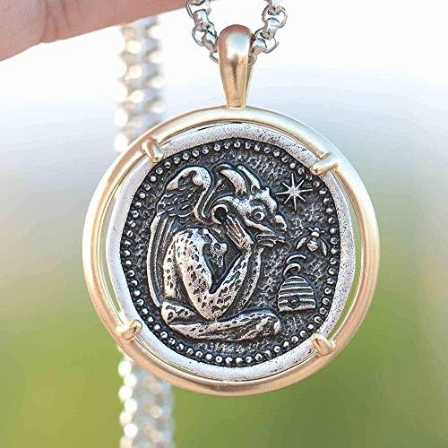BACKZY MXJP Collar Collar De Notre Dame De París, Catedral Francesa, Guardián Medieval, Joyería Collar