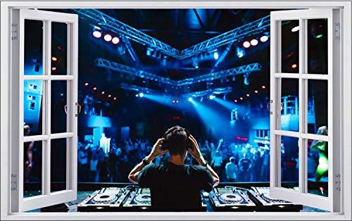Konzert Festival DJ Set Party Musik Wandtattoo Wandsticker Wandaufkleber F1922 Größe 40 cm x 60 cm