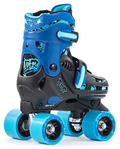 SFR Storm II Quads Adjustable Children's roller skates Black/Blue, 35.5–39.5