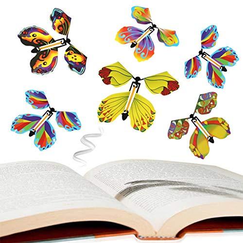 10 Stück Fliegender Schmetterling Bunt Magie Magic Flatternde Kinder Schmetterling Butterfly Kinder Spielzeug (Gelegentliche Farbe)