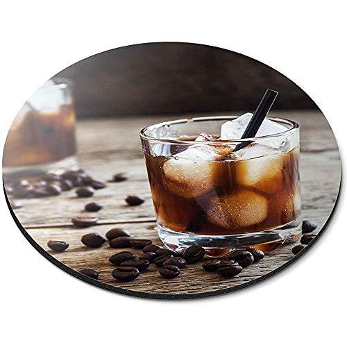 Runde Mausunterlage - schwarzes Russisches Cocktail-Wodka-Kaffee-Büro-Geschenk