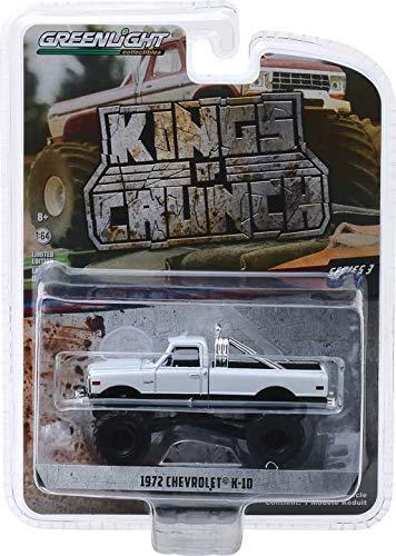 Greenlight 49030-C Kings of Crunch Series 3 1972 K-10 Monster Truck White 1:64 Scale