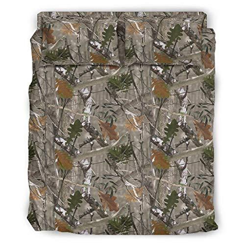Zhouwonder Coníferas camuflaje transpirable cama cubierta almohada funda para dormitorio universitario blanco 175x218cm