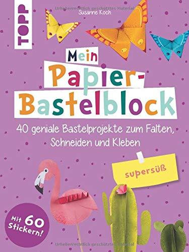 Mein Papier-Bastelblock - supersüß: 40 geniale Bastelprojekte zum Falten, Schneiden und Kleben. Mit bunten Papieren zum Heraustrennen und Verbasteln und 60 Stickern