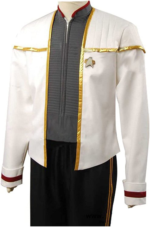 Elecos Star Trek Insurrection Nemesis Captain Picard Mess Cosplay Kostüm Herren Wei XXXL