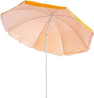 Sombrilla Playa Parasol de Acero Naranja de 180 cm Garden -