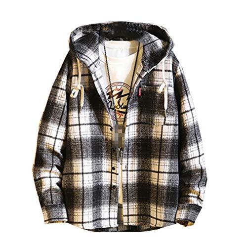 DADGS Camiseta de manga larga con capucha para hombre de primavera y otoño