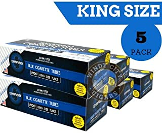 Shargio Light King Size Cigarette Tubes (200ct) 5 Pack