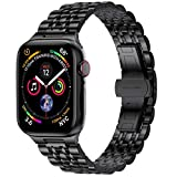 EPULY Compatible with Apple Watch Band 42mm 44mm 38mm 40mm,Business Stainless Steel Metal Wristband for iWatch SE & Series 6/5/4/3/2/1