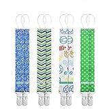 Schnullerband Baby Schnullerketten Clips 8Pcs Set Kunststoff Schnullerband Klemmen für Junge Mädchen Baumwolle Schnullerband Stoff für Lätzchen Dreieckstuch Sauger Schnuller von Anoopsyche