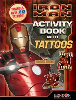 Iron Man Activity Book w/ Tattoos by IRONMAN