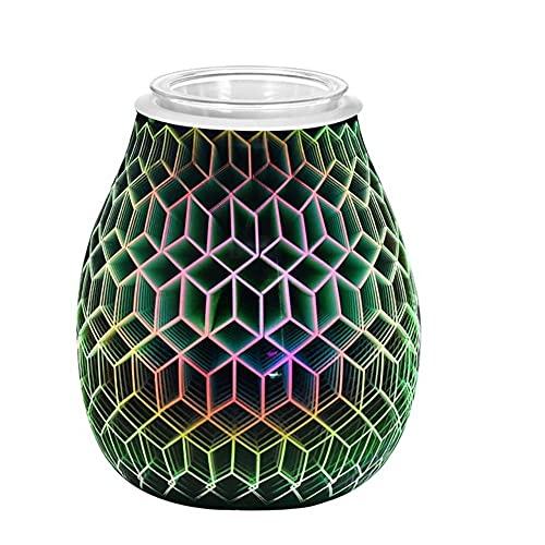 Winnie 3D Floral Stars Wax Melts Aromaterapia Aroma Cuadrado Irregular Quemador Eléctrico de Fusión de Cera Lámpara 3D Luz Nocturna Quemador de Aceite Eléctrico