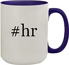 #hr - 15oz Hashtag Ceramic Inner & Handle Colored Coffee Mug, Deep Purple