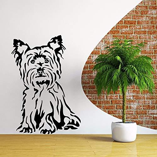 sanzangtang Etiqueta de la Pared de Vinilo para Perros Etiqueta de la Pared del Tema Animal decoración de la Tienda de Mascotas Pintura de la Pared del Perro Beagle Arte del vinilo45cmX63cm
