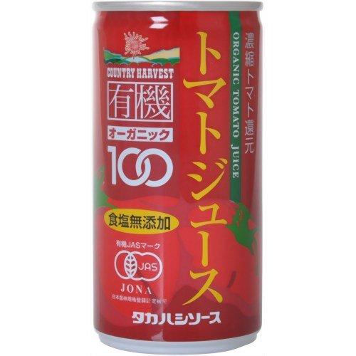 カントリーハーヴェスト 有機トマトジュース(濃縮トマト還元) 190g×30本 缶