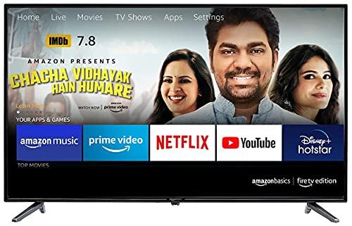 AmazonBasics 109cm (43 inches) Fire TV Edition Full HD Smart LED TV AB43E10DS (Black)