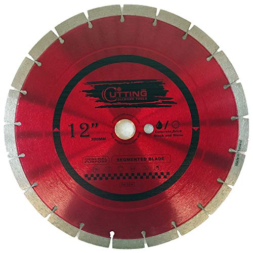 Cutting Pro 12 inch Dry or Wet Cutting General Purpose Power Saw Segmented Diamond Blades for Concrete Stone Brick Masonry (12')