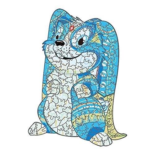 DGFDS Rompecabezas De Animales Únicos para Adultos, Niños, Adolescentes, Puzzle De Madera Juguetes Educativos Juego Familiar Y Decoración del Hogar (Talla : 21.5X30CM-202 Pieces)