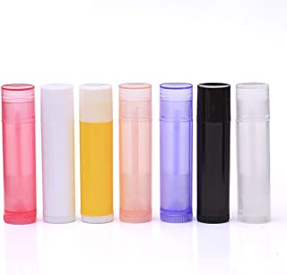Bekith 105 Pack 5.5ml Empty Lip Balm Tubes Containers with Top Caps and Twist Bottom, Assorted Color