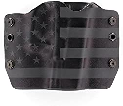 Stealth Black USA Flag - Kydex OWB Holsters for More Than 200 Different Handguns. Left & Right Versions Plus Speed Clips and Paddle Back Available.