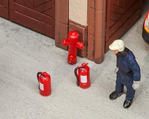 Faller 180950 6 Feuerlöscher und 2 Hydrante