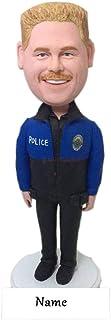 Poliziotto Polizia Personalizzata Bobble Head Polizia Compleanno Cake Topper Polizia Regalo fidanzato Polizia Marito Poliz...
