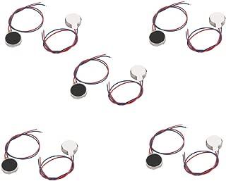 BestTong DC3V/0.1A 1.5V/0.05A 10mmx 2.7mm Micro Mini Flat Coin Mobile Phone Vibration Vibrating Motors 10 PCS