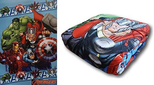 Marvel, Avengers 2. Trapunta, Piumone Invernale, Microfibra. Singolo, 1 Piazza.