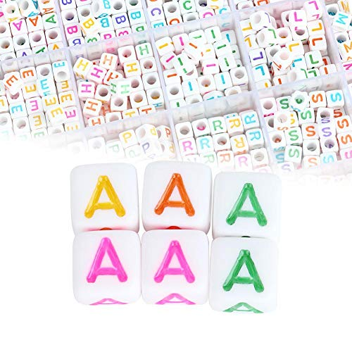 Amuleto de abalorios Fabricación de joyas, tejido de abalorios y fabricación de joyas Accesorios Pulseras de abalorios Accesorios de collar DIY Alfabeto digital en inglés Número para bricolaje Pulser