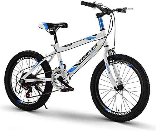 LAMTON 20-Zoll-Variable Speed Mountainbike bequemer Sattel rutschfestes Pedal Kinderfahrrad sicher und einfühlsam Brems (Farbe : Blau, Größe : A)