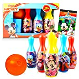 Mickey Mouse Toys and Games Bundle Mickey Playset - Disney Mickey Mouse Bowling Set Mickey Games for Toddlers Kids (Mickey Mouse Merchandise)