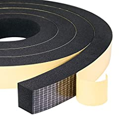 2 ROLLS VALUE PACK - This package includes 2 rolls of 1 in x 3/4 in x 6.5 ft foam tape, total 13 ft length. The weather strip is easy enough to customize and cut to size with scissors or blade, and bend easily and conform to any shape HIGH QUALITY MA...