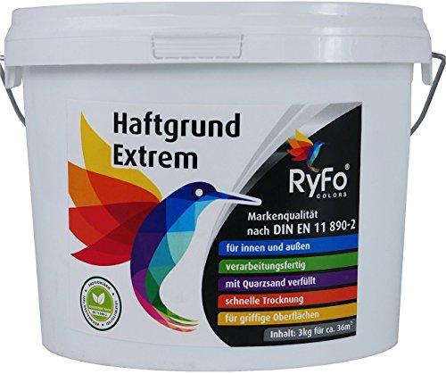 RyFo Colors Haftgrund Extrem 3kg (Größe wählbar) - Fliesen-Grundierung, Supergrund Fliese auf Fliese, für innen und außen