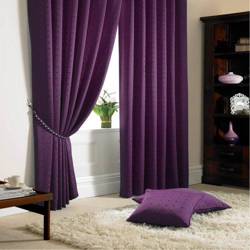 Alan Symonds Madison Purple Pencil Pleat Curtains